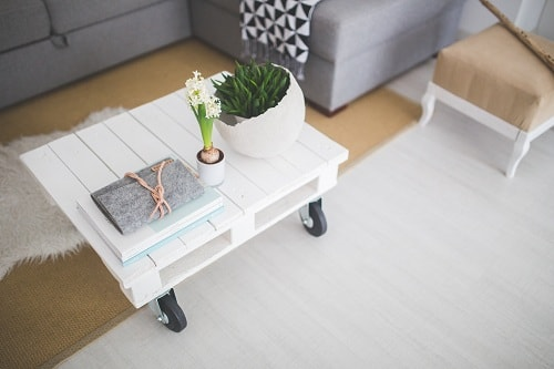a nice table painted white
